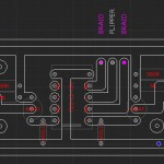 PCB lay-out for live out flipper