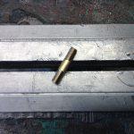 Brass axle.